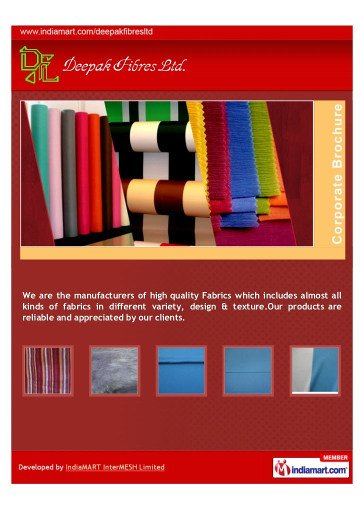 We are the manufacturers of high quality Fabrics which includes almost allkinds of fabrics in different variety, design & ...