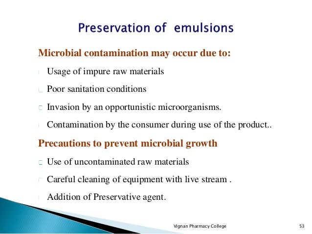 Emulsions Suspensions These are biphasic liquid preparations containing two immiscible liquids one of which is dispersed a...