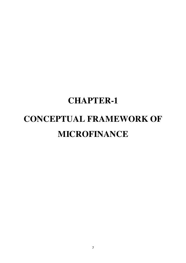 theoretical framework on micro finance project Definition of theoretical framework: a group of related ideas that provides guidance to a research project or business endeavor the appropriateness of a theoretical .