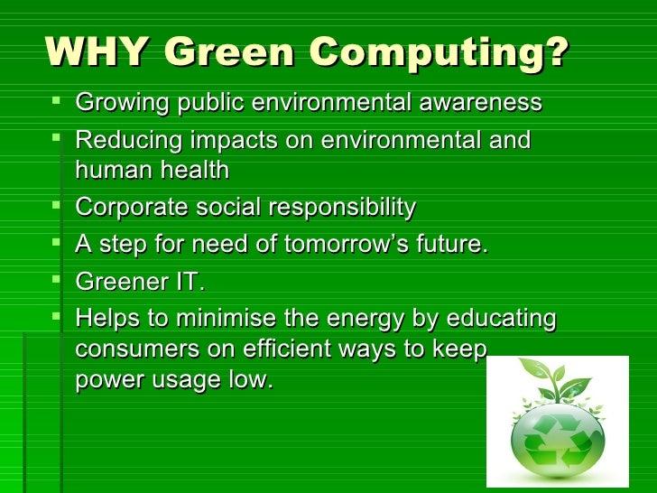 Green Computing Essays (Examples)