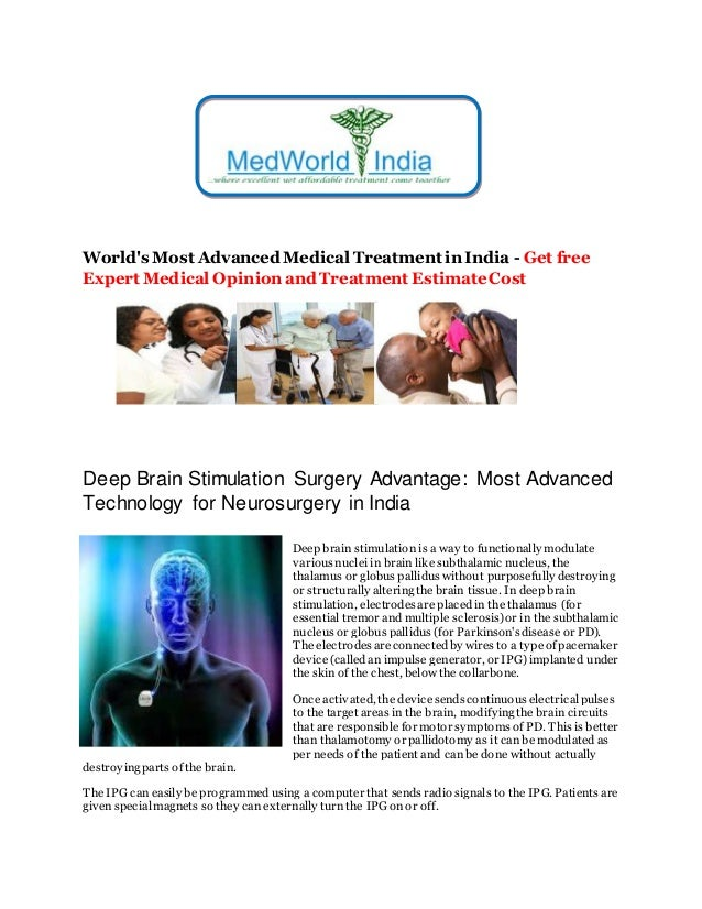 World's Most Advanced Medical Treatment in India - Get free Expert Medical Opinion and Treatment EstimateCost Deep Brain S...