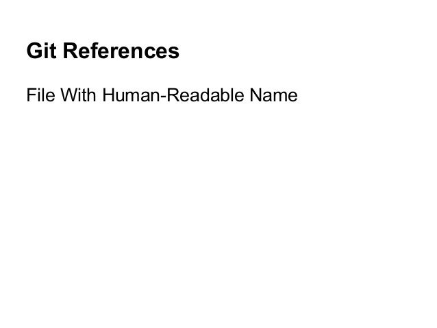 Git References File With Human-Readable Name