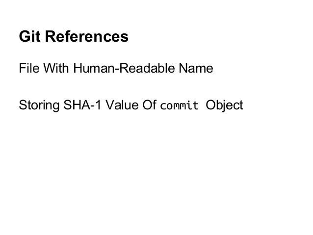 Git References File With Human-Readable Name Storing SHA-1 Value Of commit Object