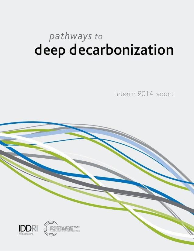 interim report deep decarbonization pathways to 2014