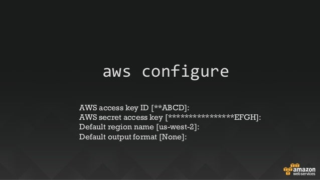 Deep Dive: AWS Command Line Interface