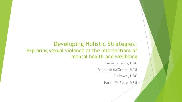 Developing Holistic Strategies: Exploring sexual violence at the intersections of mental health and wellbeing Lucia Lorenz...