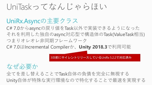 Deep Dive async/await in Unity with UniTask(UniRx Async)