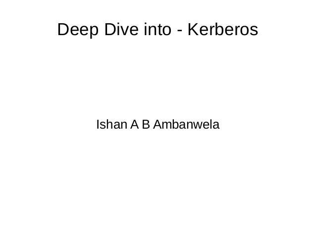 Deep Dive into - Kerberos  Ishan A B Ambanwela