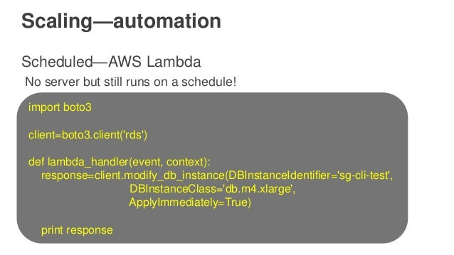 Deep Dive on Amazon RDS