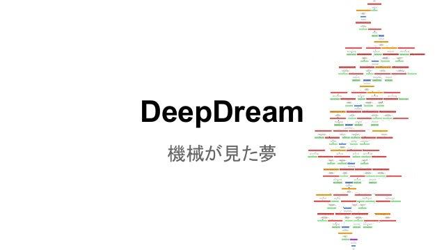 DeepDream 機械が見た夢
