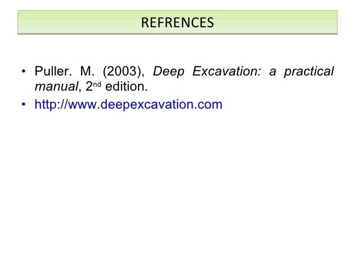 Manual practical deep a pdf excavations