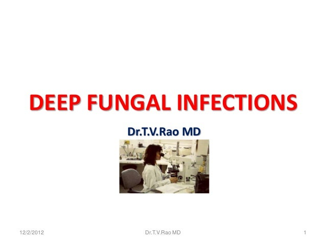 DEEP FUNGAL INFECTIONS            Dr.T.V.Rao MD12/2/2012      Dr.T.V.Rao MD   1