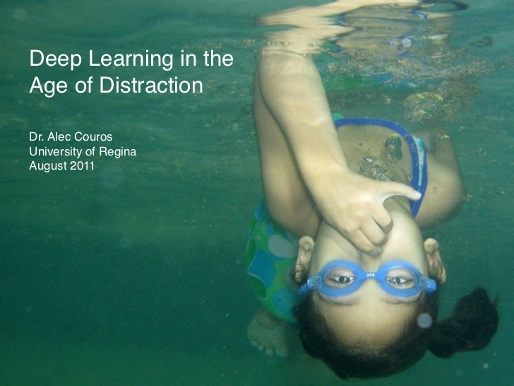 Deep Learning in theAge of DistractionDr. Alec CourosUniversity of ReginaAugust 2011