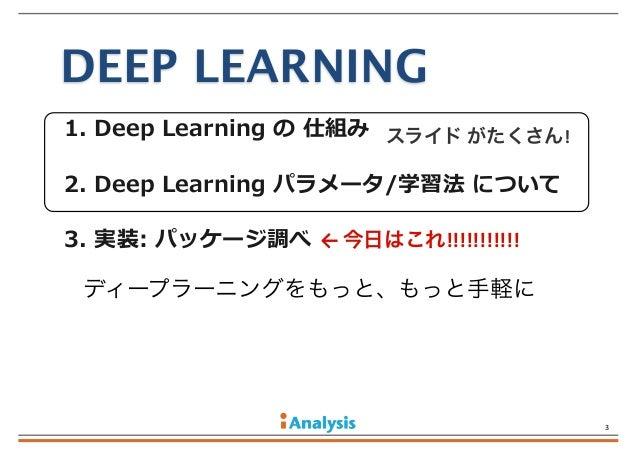 実装ディープラーニング Slide 3