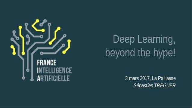 Deep Learning, beyond the hype! 3 mars 2017, La Paillasse Sébastien TREGUER