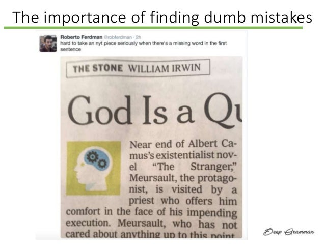The importance of finding dumb mistakes