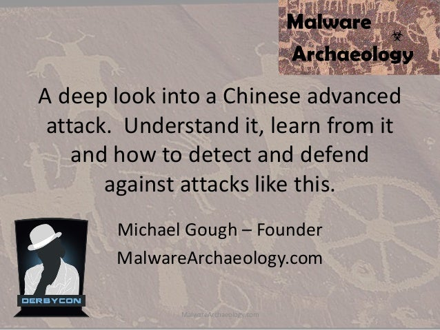 A deep look into a Chinese advanced attack. Understand it, learn from it and how to detect and defend against attacks like...