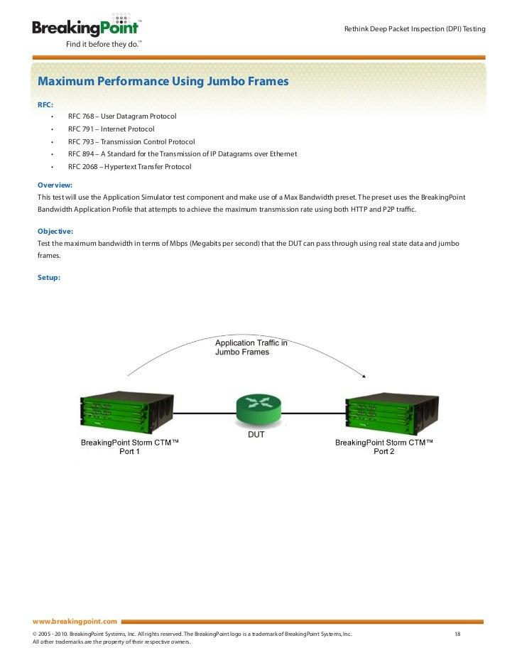 Deep Packet Inspection (DPI) Test Methodology