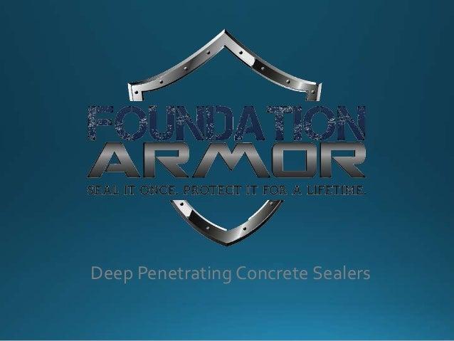 Deep Penetrating Concrete Sealers