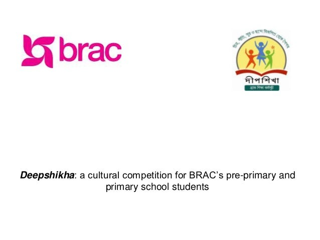 Deepshikha: a cultural competition for BRAC's pre-primary and                  primary school students