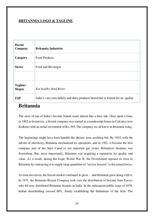 britannia company report
