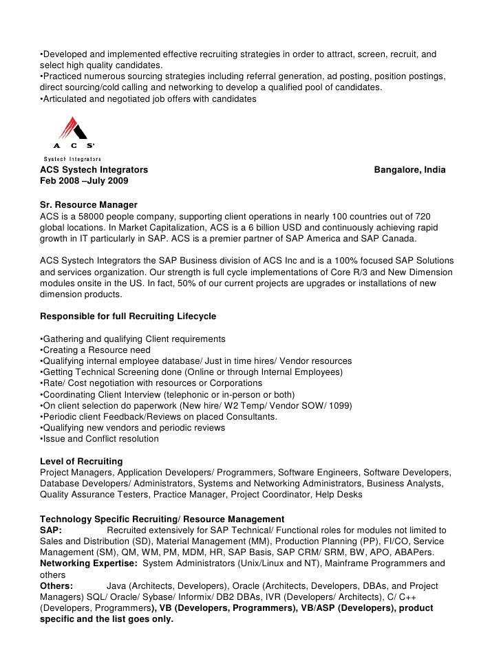 Senior Technical Recruiter Resume   http   jobresumesample com     senior