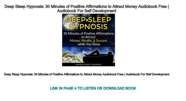 Deep Sleep Hypnosis 30 Minutes of Positive Affirmations to