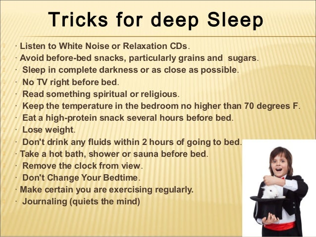 how to get low sleep