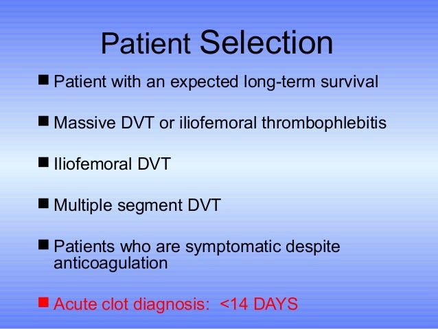 Deep Vein Thrombosis A Case For Early Intervention