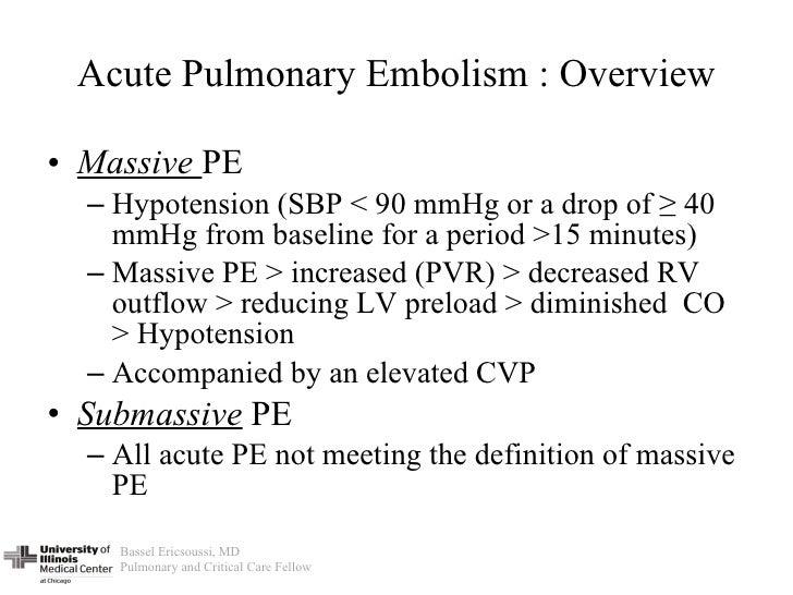 6 Acute Pulmonary Embolism