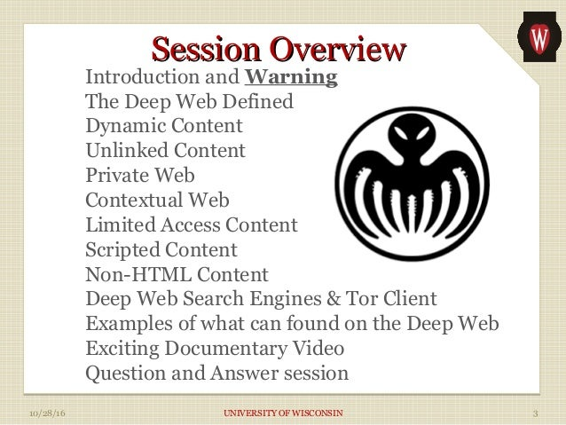 Spooky Halloween IT Security Lecture -- The Deep Web Slide 3