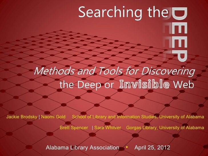 Jackie Brodsky | Naomi Gold   School of Library and Information Studies, University of Alabama                        Bret...