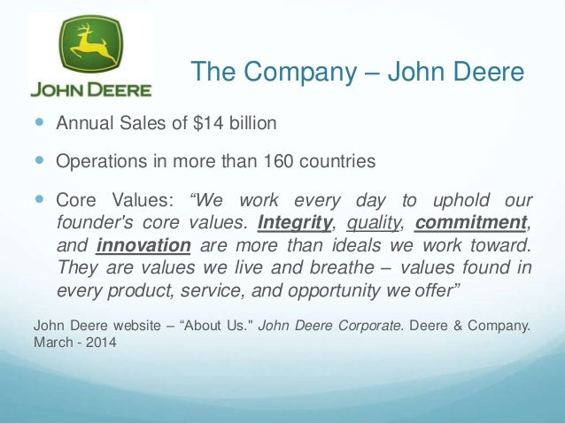 john deere swot analysis See deere & co's 10 year historical growth, profitability, financial, efficiency, and cash flow ratios.