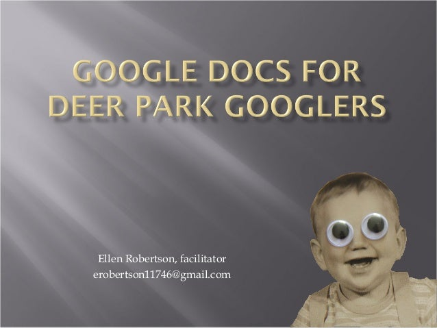 Ellen Robertson, facilitatorerobertson11746@gmail.com