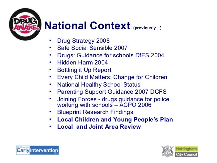 Drug education and early intervention in nottingham city schools 3 malvernweather Choice Image