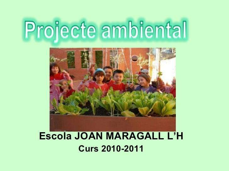 Escola JOAN MARAGALL L'H Curs 2010-2011