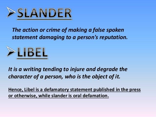 defamation ppt Libel Defamation Cartoons libelous statements