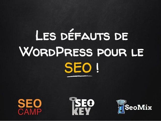 Les défauts de WordPress pour le SEO !