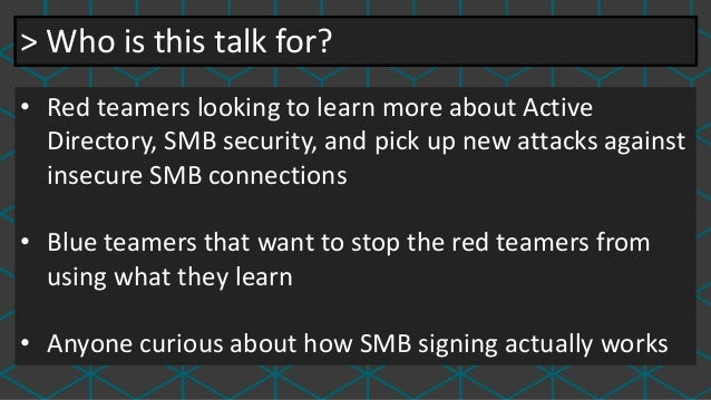 SMBetray—Backdooring and breaking signatures Slide 3