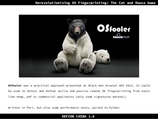 Derevolutionizing OS Fingerprinting: The cat and mouse game