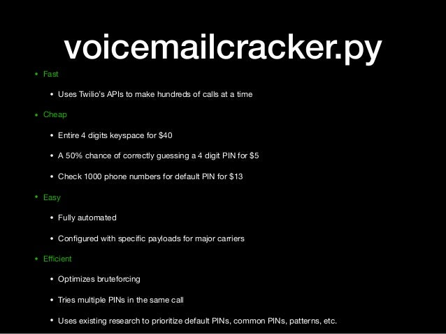 Compromising online accounts by cracking voicemail systems