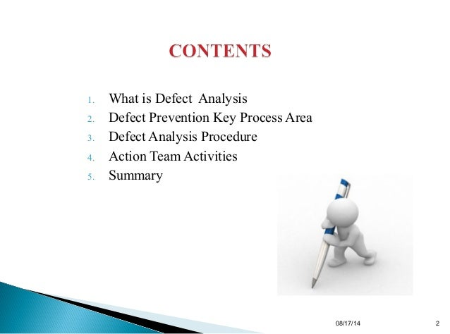 Defect analysis and prevention methods ccuart Choice Image