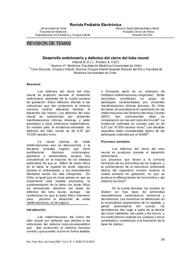 Revista Pediatría Electrónica          Universidad de Chile                                           Servicio Salud Metro...