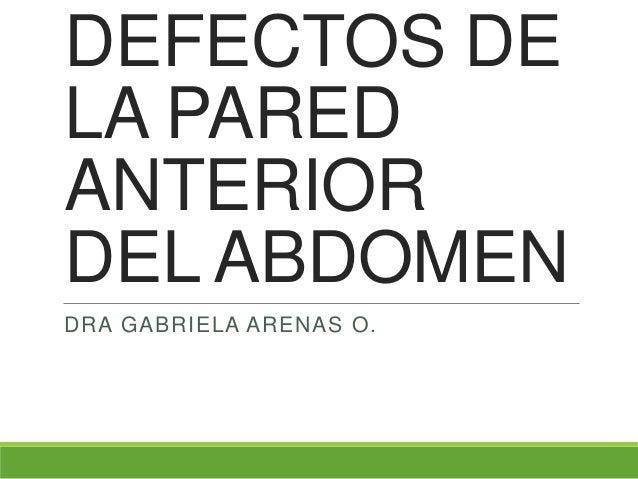 DEFECTOS DELA PAREDANTERIORDEL ABDOMENDRA GABRIELA ARENAS O.