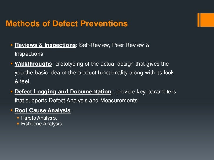 Defect prevention testing maintenance phase 6 methods of defect ccuart Choice Image