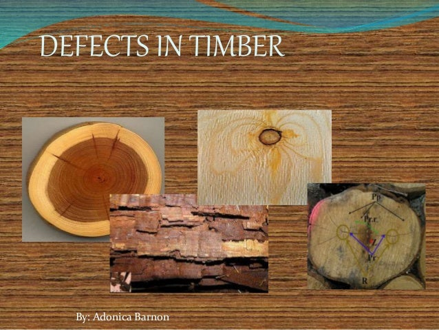 DEFECTS IN TIMBER By: Adonica Barnon