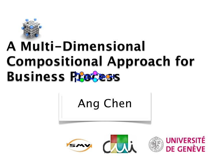 A Multi-Dimensional Compositional Approach for Business Process           Ang Chen                 1
