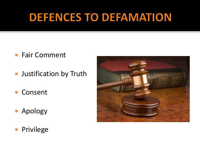"defenses for defamation Defences available in defamation claims defence of truth truth (also referred to as ""justification"") is a complete defence however it is an."