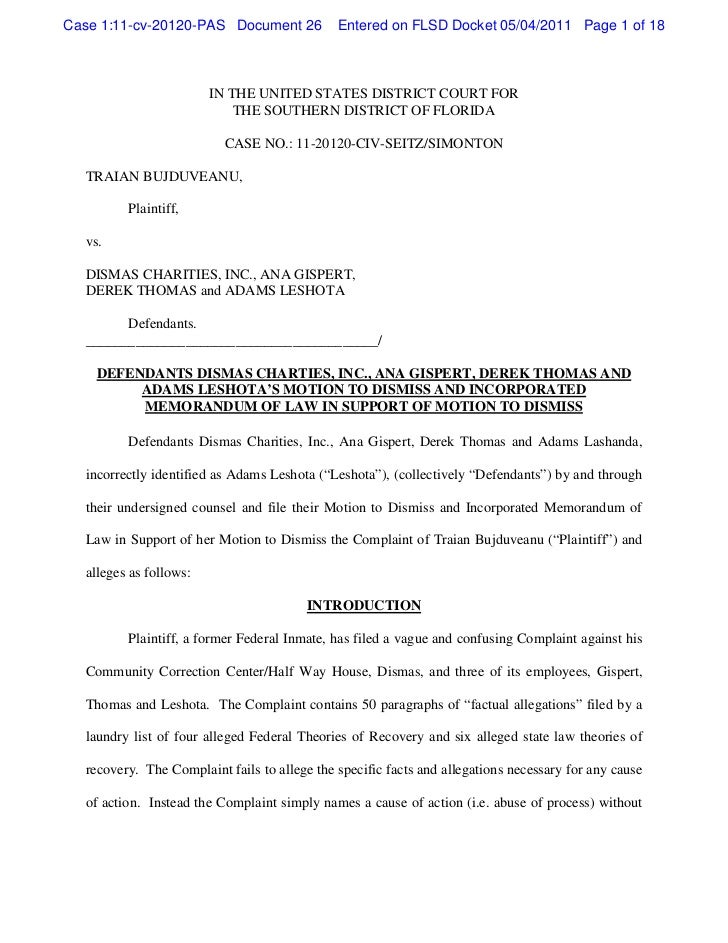 Case 1:11-cv-20120-PAS Document 26            Entered on FLSD Docket 05/04/2011 Page 1 of 18                        IN THE...
