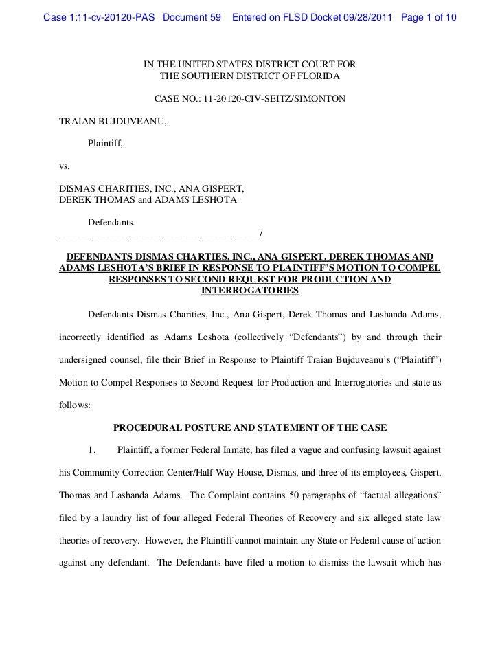 Case 1:11-cv-20120-PAS Document 59            Entered on FLSD Docket 09/28/2011 Page 1 of 10                       IN THE ...